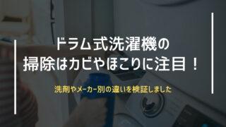 ドラム式洗濯機の掃除はカビやほこりに注目!洗剤やメーカー別の違いを検証しました